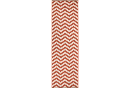 27X93 Rug-Tendu Chevron Red