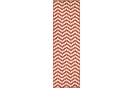 27X93 Rug-Tendu Chevron Red