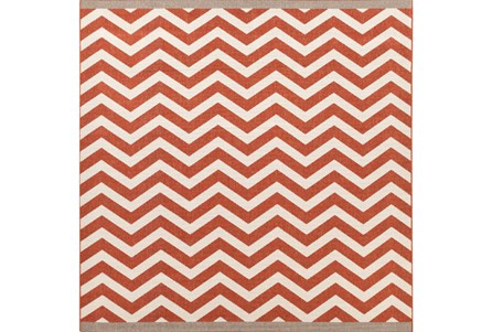 105X105 Square Rug-Tendu Chevron Red