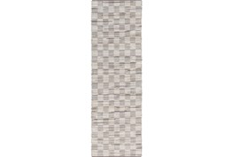 30X96 Rug-Chequers Grey/Beige