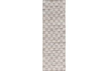 30X96 Rug-Chequers Grey/Beige