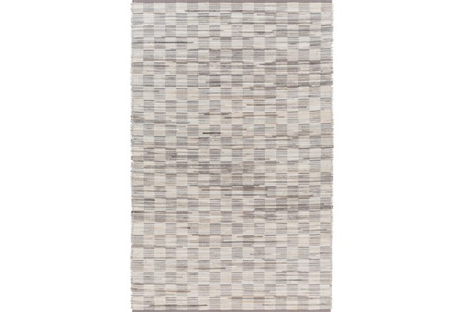 96X120 Rug-Chequers Grey/Beige - 360