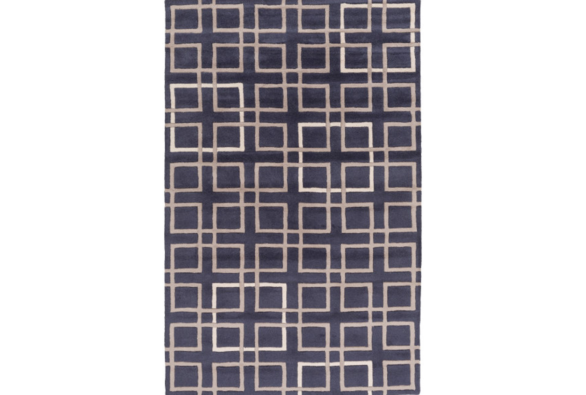 60x96 Rug Platz Navy Taupe Living Spaces