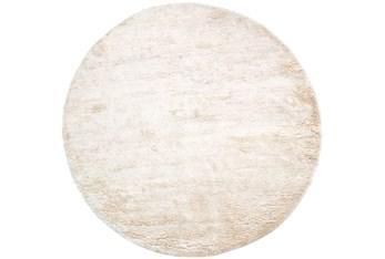 8' Round Rug-Bichon Ivory