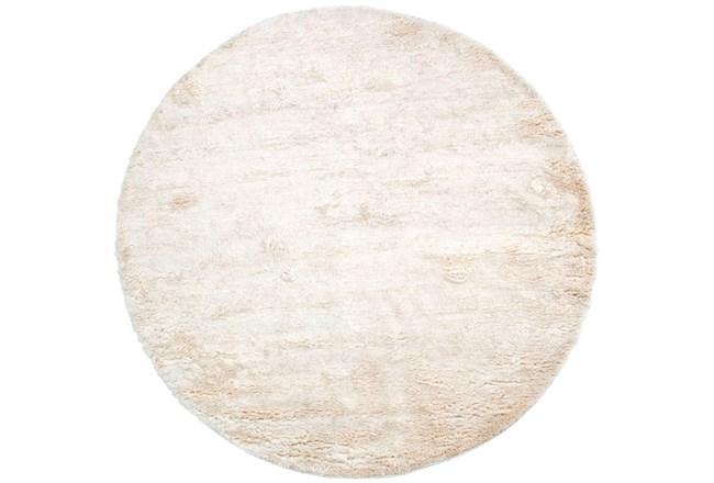 96 Inch Round Rug-Bichon Ivory - 360