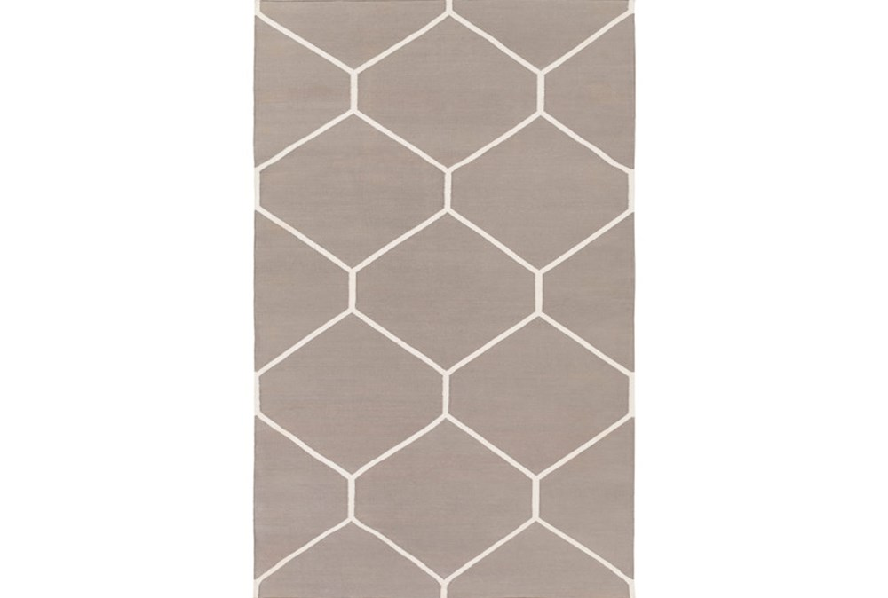 4'x6' Rug-Sechs Taupe