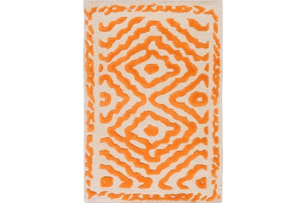 39X63 Rug-Iris Burnt Orange