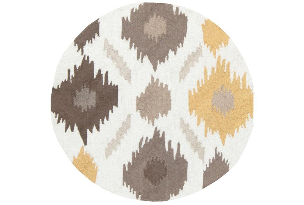 36 Inch Round Rug-Litura Gold/Grey