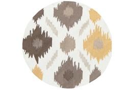 3' Round Rug-Litura Gold/Grey