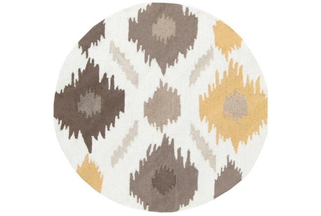 36 Inch Round Rug-Litura Gold/Grey - 360