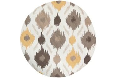 4' Round Rug-Litura Gold/Grey