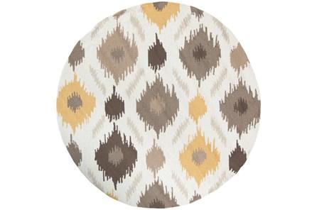72 Inch Round Rug-Litura Gold/Grey