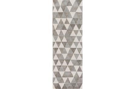 30X96 Rug-Trigon Grey