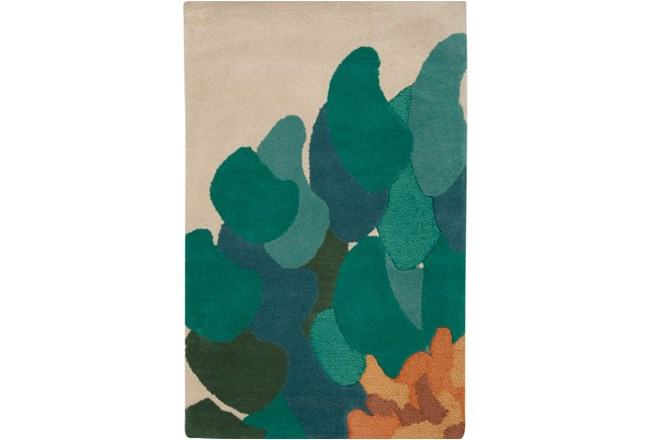 39X63 Rug-Chrysanthemum Emerald - 360