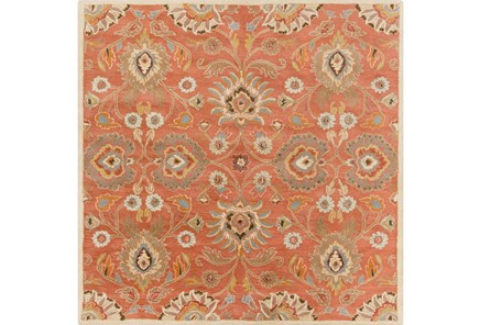 48X48 Square Rug-Lazio Rust