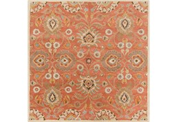 8'x8' Square Rug-Lazio Rust