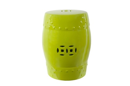 Green Ceramic Garden Stool - Main