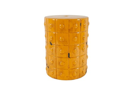 Mustard Ceramic Stool - Main