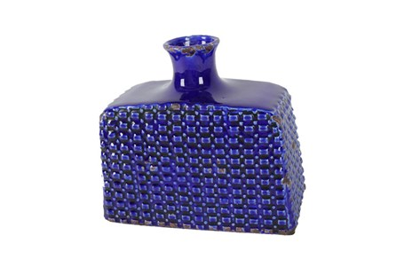 5 Inch Royal Blue Vase