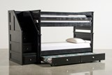 Summit Blk Twin Over Twin Bunk Bed With Trundle/Matt & Stair Chest - Back