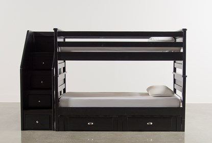 Summit Black Twin Over Bunk Bed