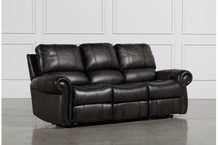 Thad Leather Dual Power Reclining Sofa - Main