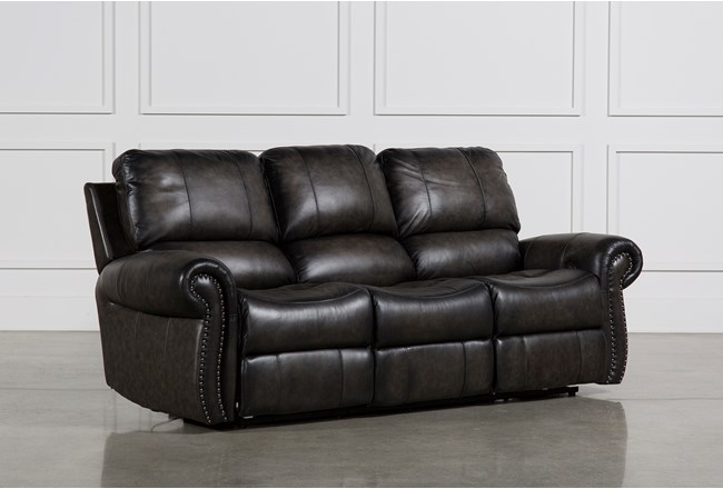 Thad Leather Dual Reclining Sofa 360