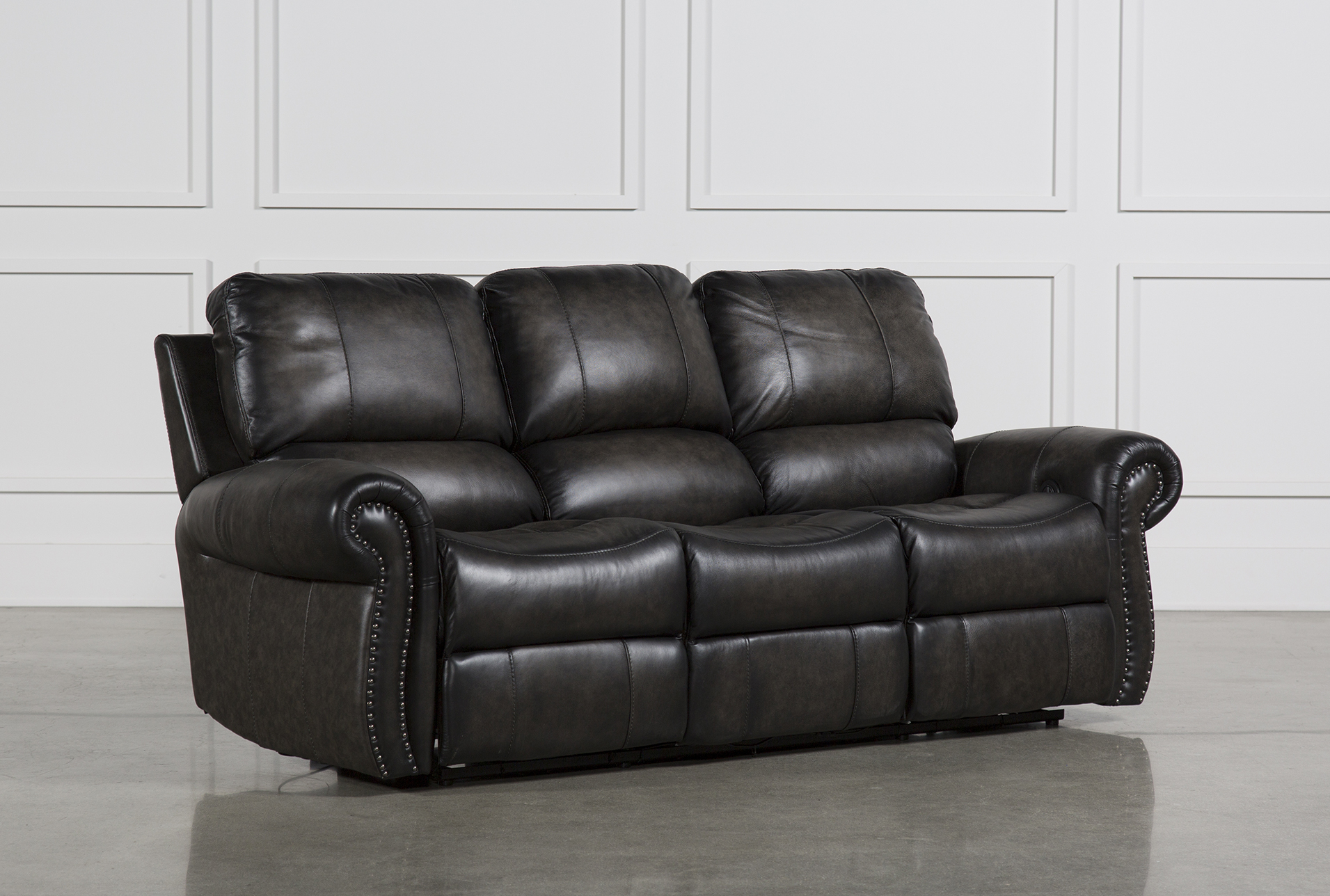 Delicieux Thad Leather Dual Power Reclining Sofa   360
