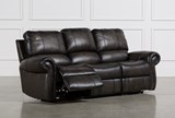 Thad Leather Dual Power Reclining Sofa - Left