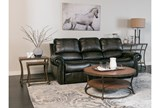 Thad Leather Dual Power Reclining Sofa - Room