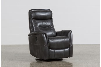 Gannon Flint Power Swivel Glider Recliner With Built-In Battery