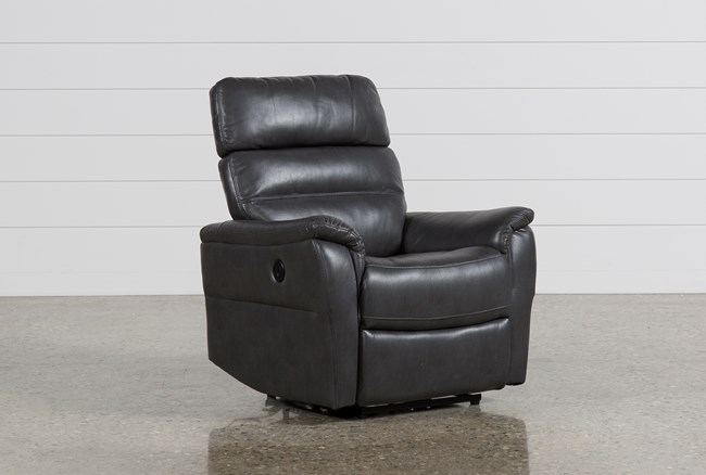 Cary Charcoal Power Wallaway Recliner - 360