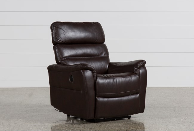 Cary Chocolate Power Wallaway Recliner - 360