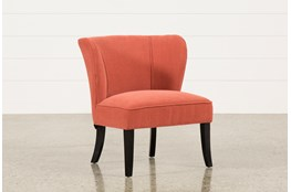 Riley Raspberry Accent Chair Living Spaces