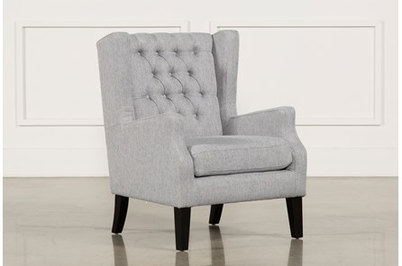 Peyton Silver Accent Chair - Main