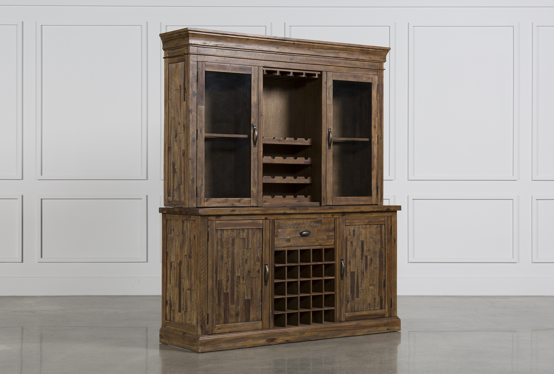 Charmant Partridge Wine Cabinet W/Hutch (Qty: 1) Has Been Successfully Added To Your  Cart.
