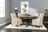 Combs 5 Piece Dining Set W/ Mindy Slipcovered Chairs - Room