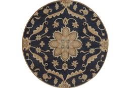 96 Inch Round Rug-Ostia Navy