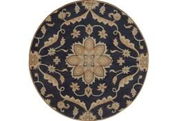 117 Inch Round Rug-Ostia Navy