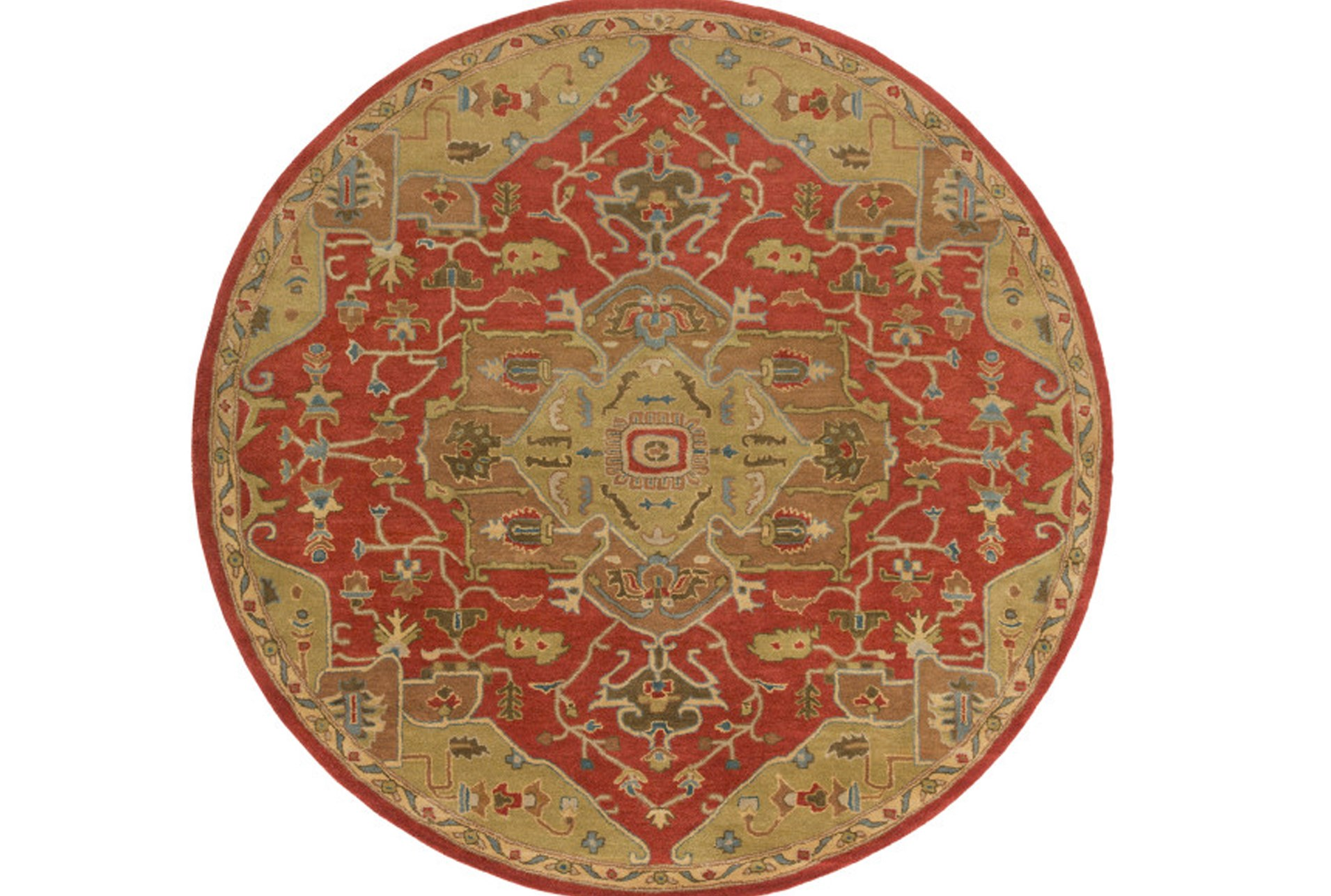 117 Inch Round Rug Massimo Rust Living Spaces