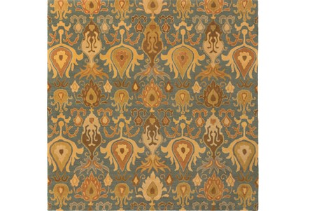 117X117 Square Rug-Antica Olive/Forest