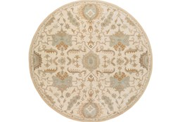 117 Inch Round Rug-Navona Ivory