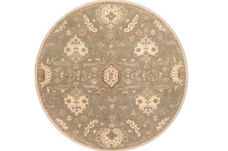 117 Inch Round Rug-Navona Olive