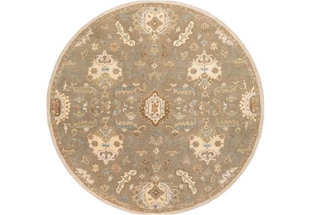 117 Inch Round Rug-Navona Olive - 360