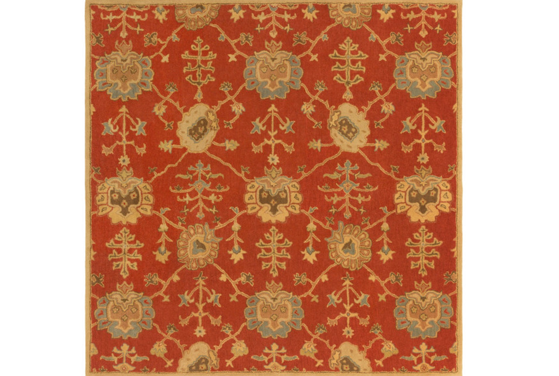 48x48 Square Rug Callaby Red Qty 1 Has Been Successfully Added To Your Cart