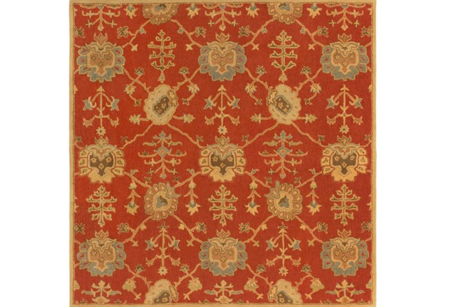 48X48 Square Rug-Callaby Red - 360