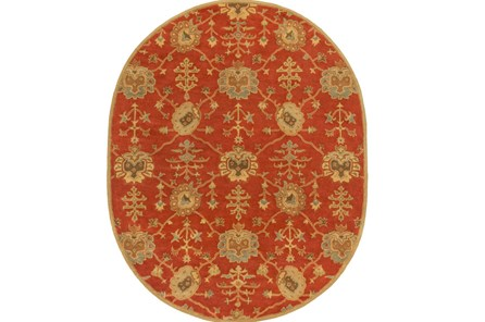 72X108 Oval Rug-Callaby Red