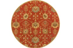 6' Round Rug-Callaby Red