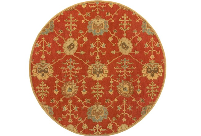 72 Inch Round Rug-Callaby Red - 360