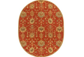 8'x10' Oval Rug-Callaby Red